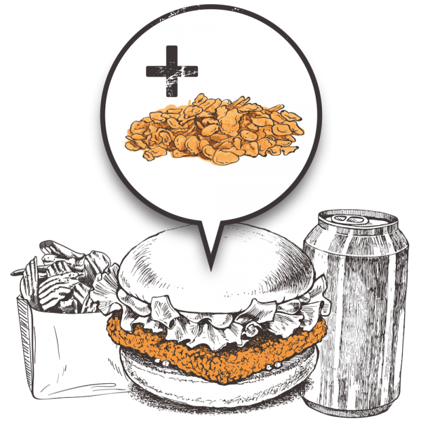 Grubers Luxembourg | Riccardo Giraudi | Burgers | Formule Cheesegrubers Chicken Pop-corn